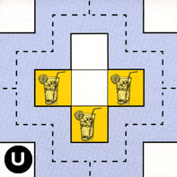 Tile U rotated clockwise three times (270 degrees)